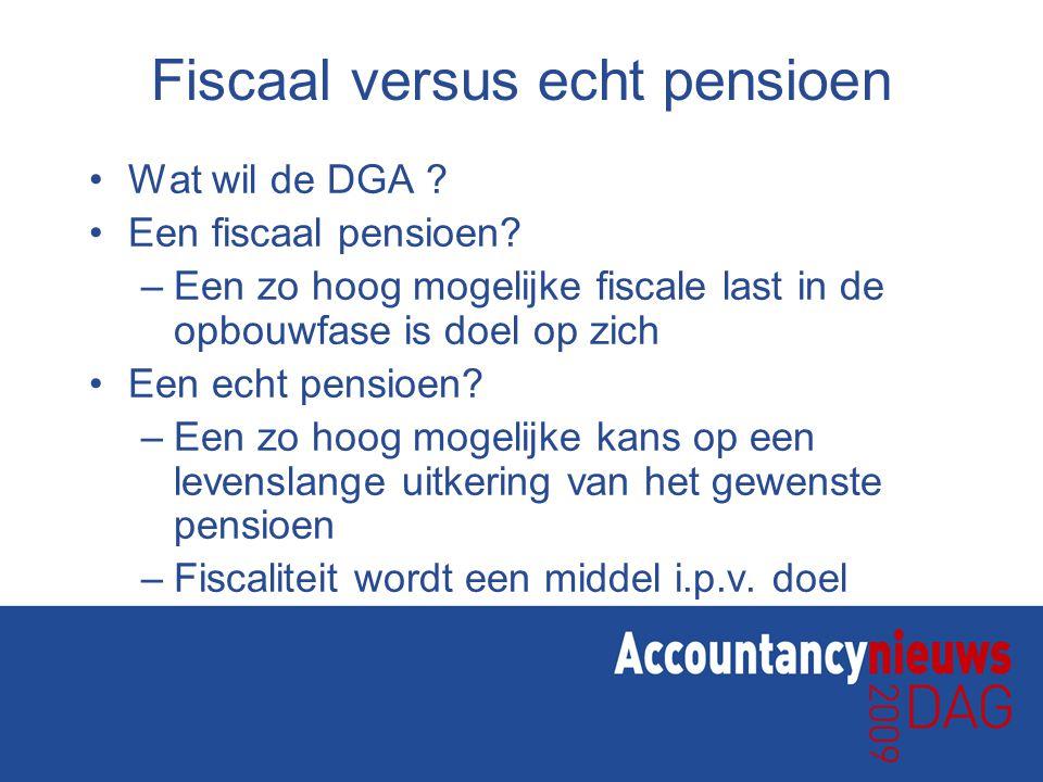 Fiscaal versus echt pensioen