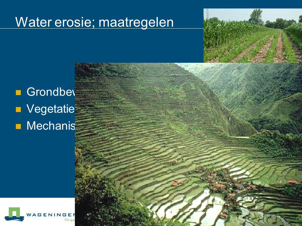 Water erosie; maatregelen