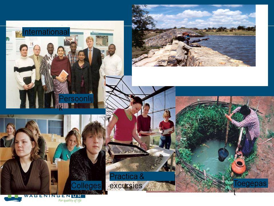 Wereldwijd Internationaal Persoonlijk Practica & excursies Toegepast Colleges