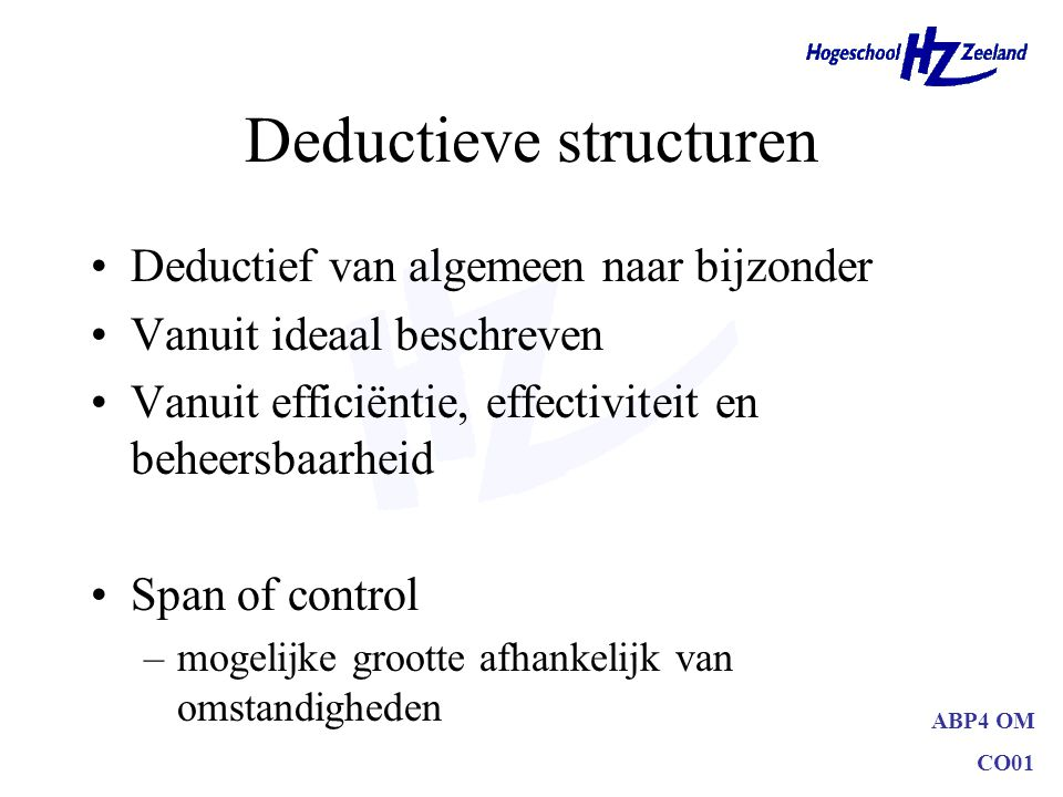 Deductieve structuren