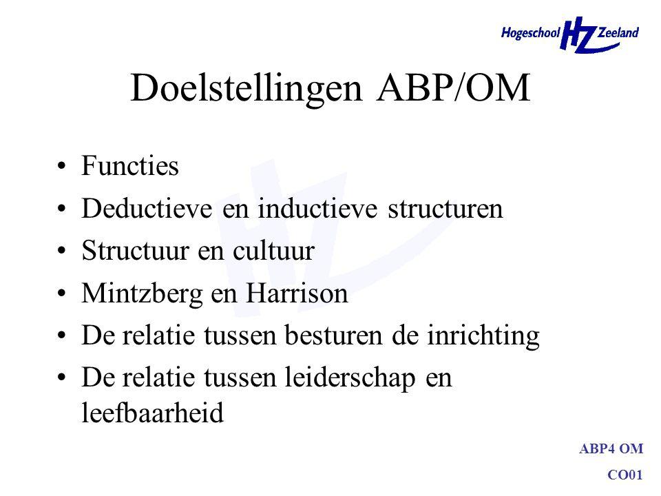 Doelstellingen ABP/OM