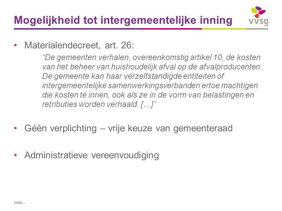 Mogelijkheid tot intergemeentelijke inning