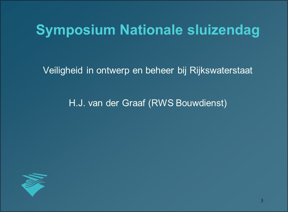 Symposium Nationale sluizendag