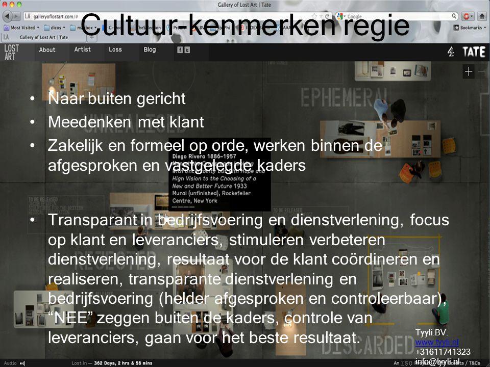 Cultuur-kenmerken regie