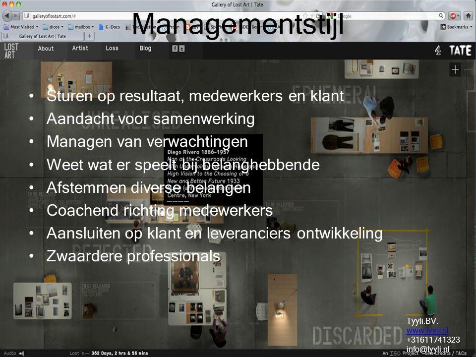 Managementstijl Sturen op resultaat, medewerkers en klant