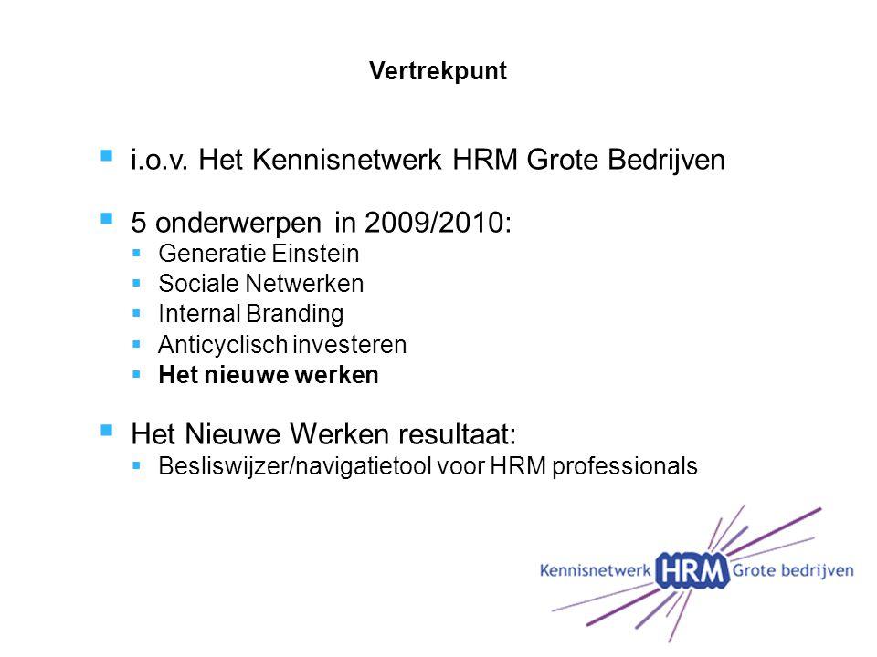 i.o.v. Het Kennisnetwerk HRM Grote Bedrijven