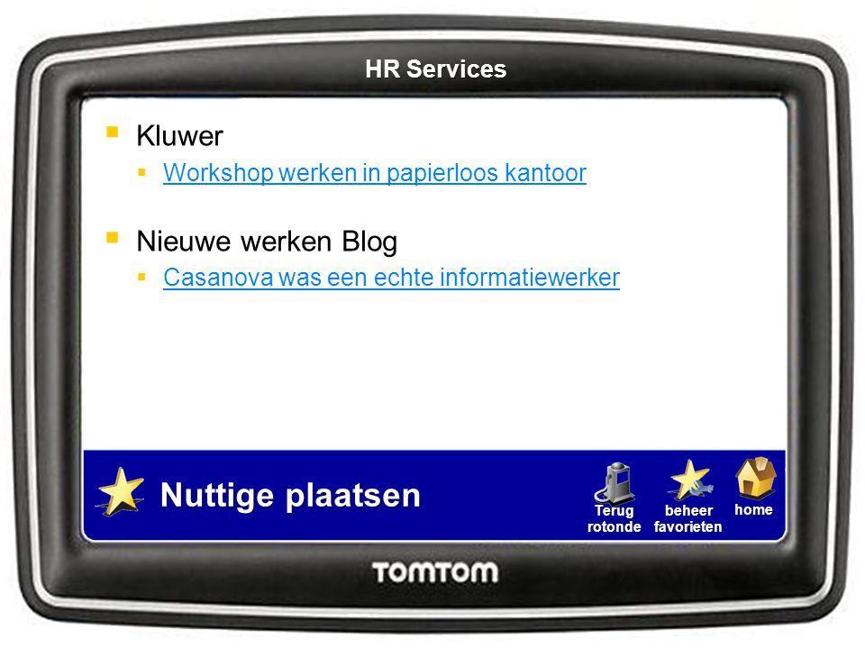 Nuttige plaatsen Kluwer Nieuwe werken Blog HR Services