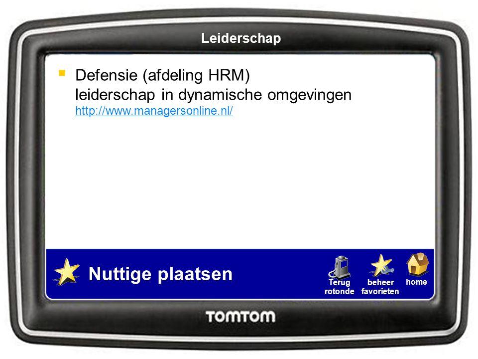 Leiderschap Defensie (afdeling HRM) leiderschap in dynamische omgevingen http://www.managersonline.nl/