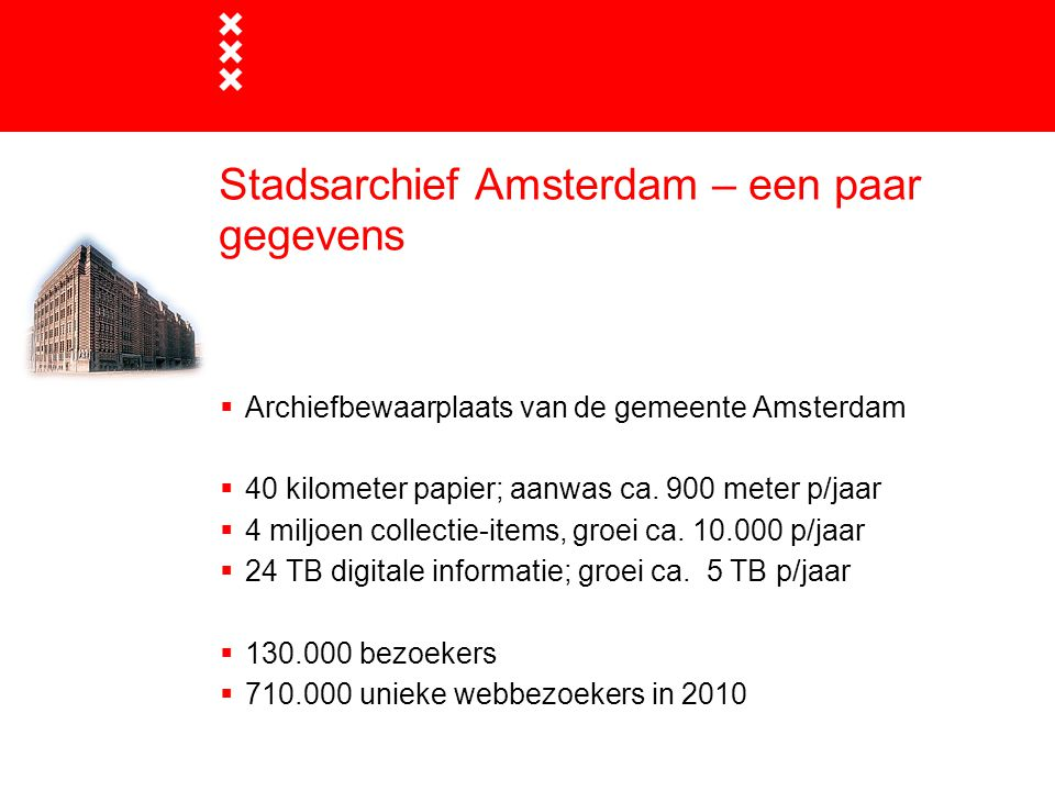 Stadsarchief Amsterdam – een paar gegevens