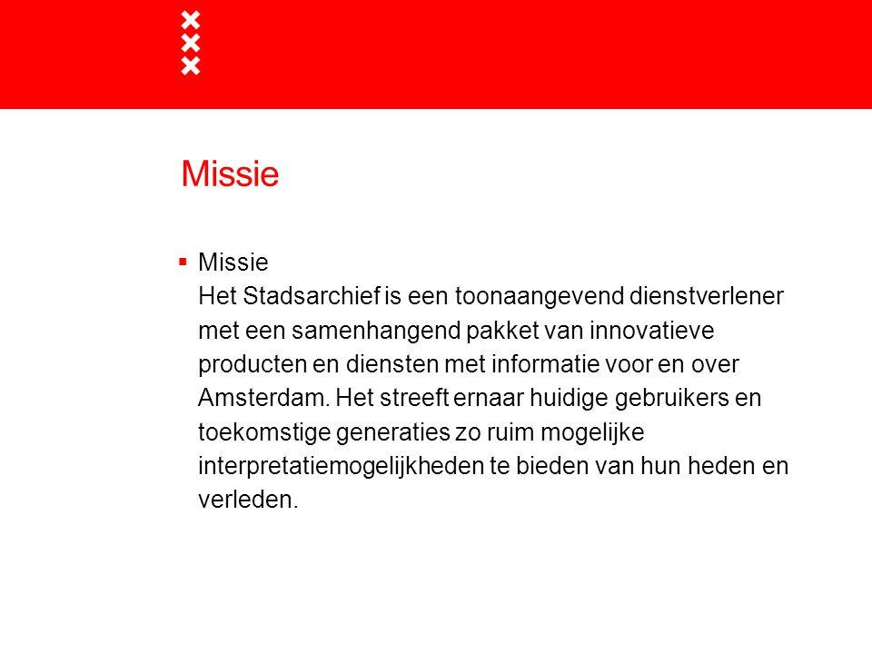 Titel presentatie Missie. Missie.