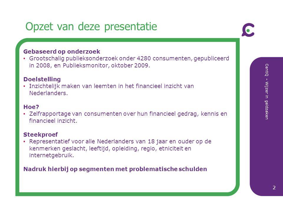 Opzet van deze presentatie
