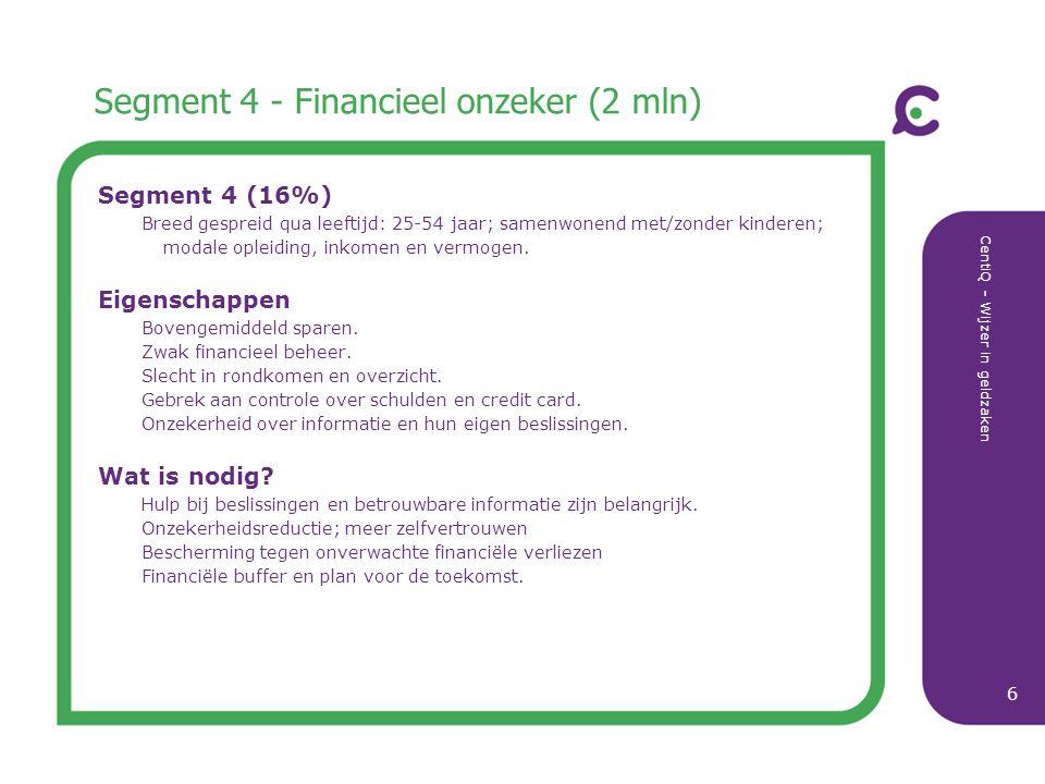 Segment 4 - Financieel onzeker (2 mln)