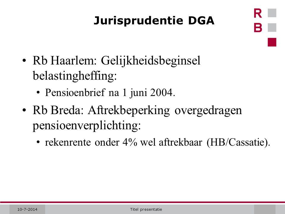 Rb Haarlem: Gelijkheidsbeginsel belastingheffing: