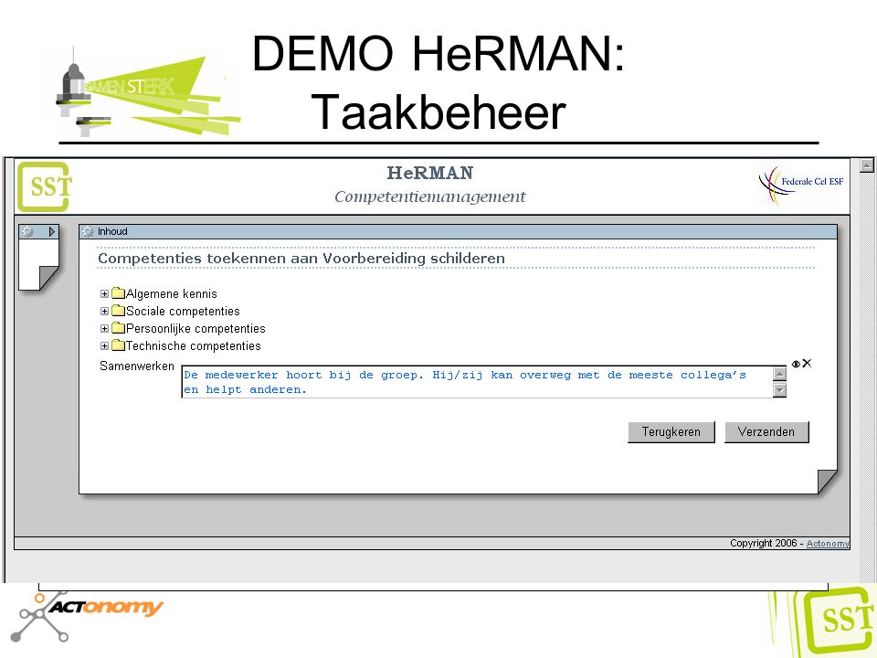 DEMO HeRMAN: Taakbeheer