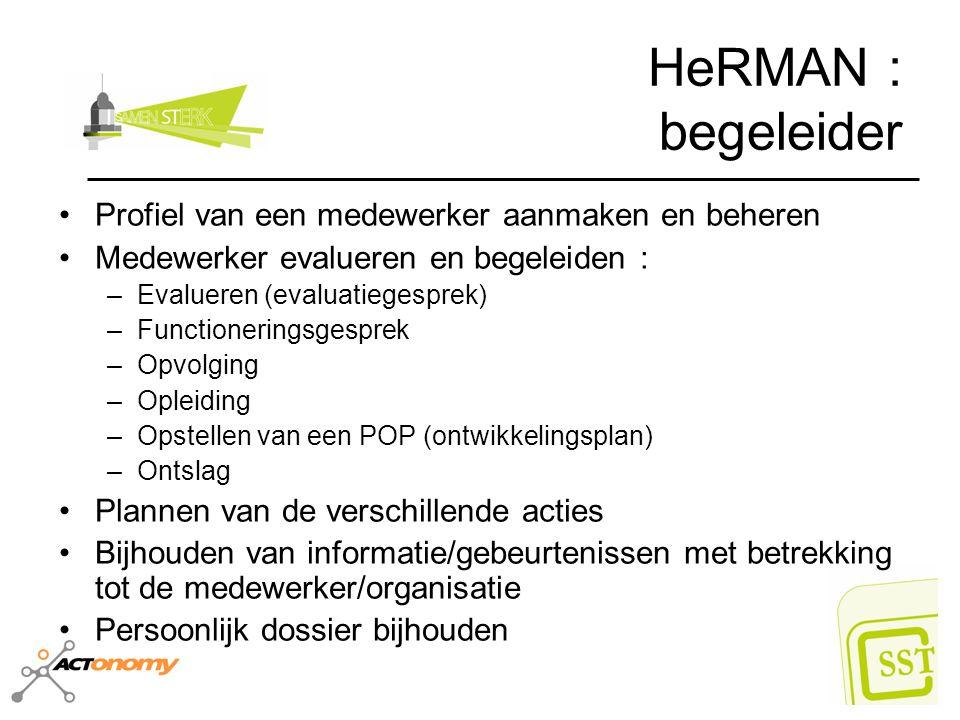 HeRMAN : begeleider Profiel van een medewerker aanmaken en beheren