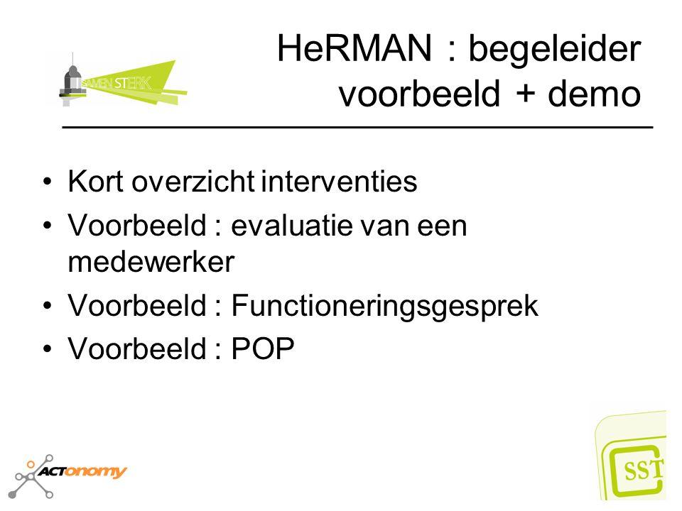 HeRMAN : begeleider voorbeeld + demo