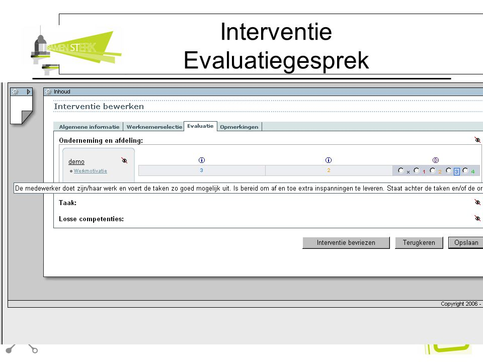 Interventie Evaluatiegesprek