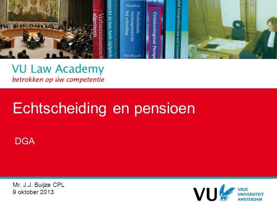 Echtscheiding en pensioen