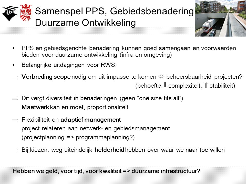Samenspel PPS, Gebiedsbenadering Duurzame Ontwikkeling