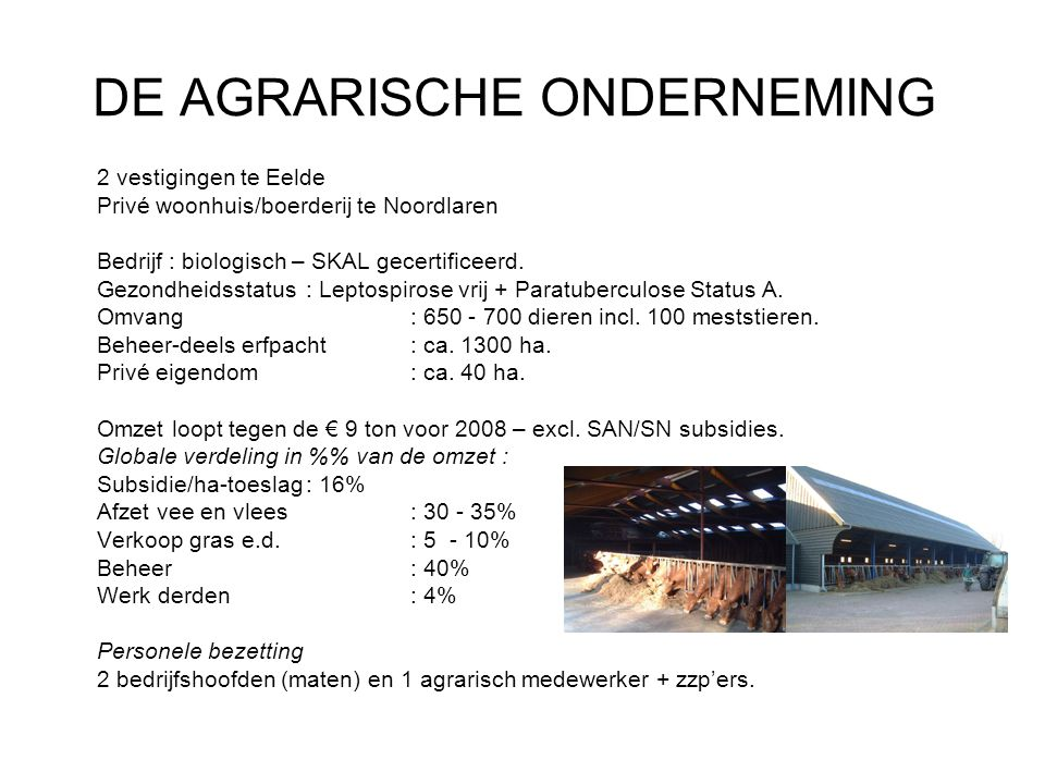 DE AGRARISCHE ONDERNEMING