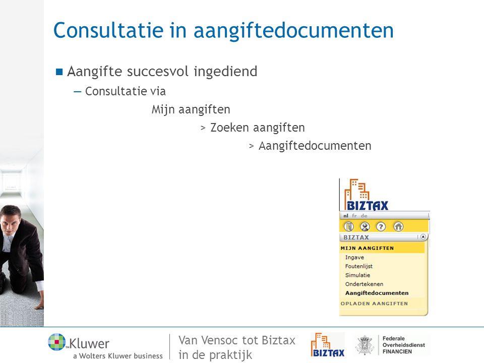 Consultatie in aangiftedocumenten