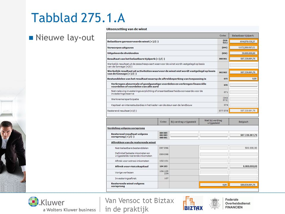 Tabblad 275.1.A Nieuwe lay-out