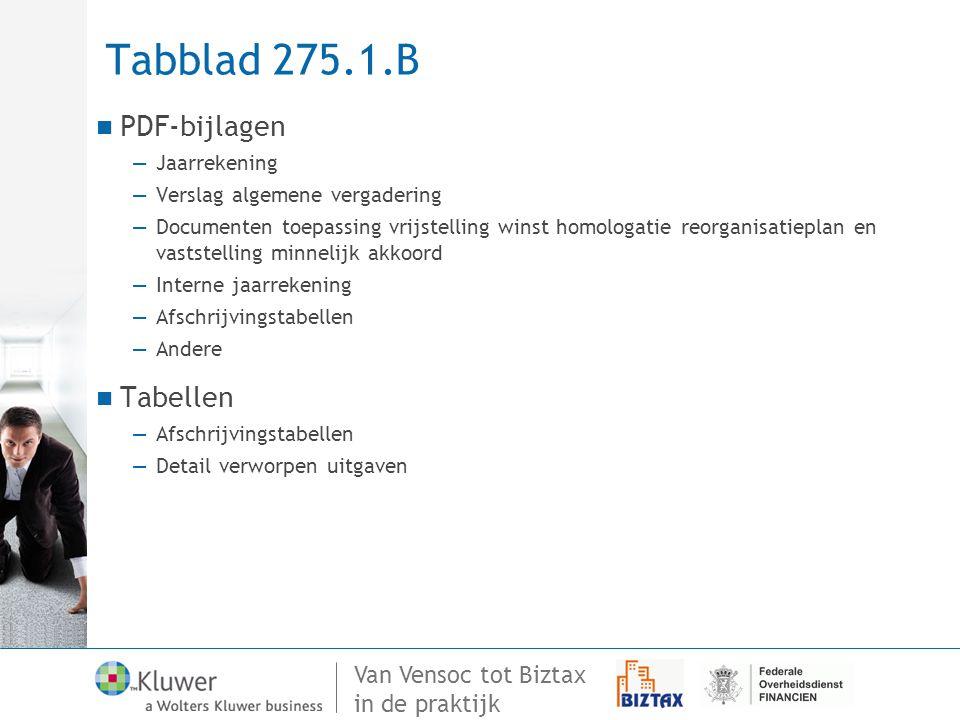 Tabblad 275.1.B PDF-bijlagen Tabellen Jaarrekening