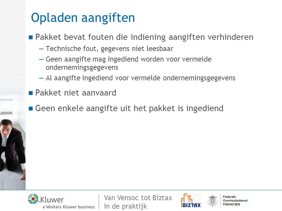 Opladen aangiften Pakket bevat fouten die indiening aangiften verhinderen. Technische fout, gegevens niet leesbaar.