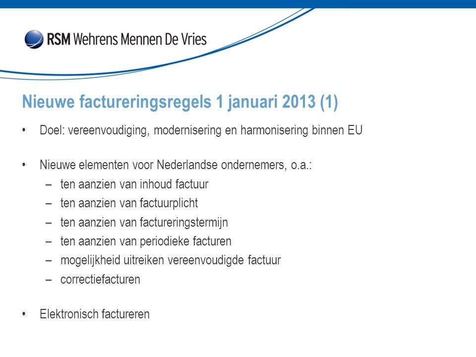 Nieuwe factureringsregels 1 januari 2013 (1)