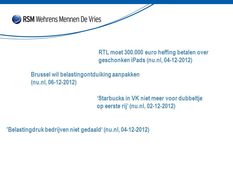 RTL moet 300. 000 euro heffing betalen over geschonken iPads (nu