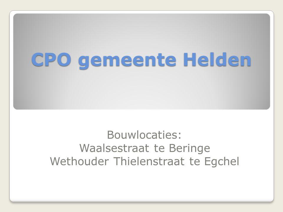 CPO gemeente Helden Bouwlocaties: Waalsestraat te Beringe