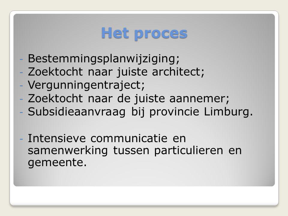 Het proces Bestemmingsplanwijziging; Zoektocht naar juiste architect;