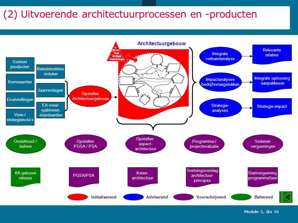 (2) Uitvoerende architectuurprocessen en -producten
