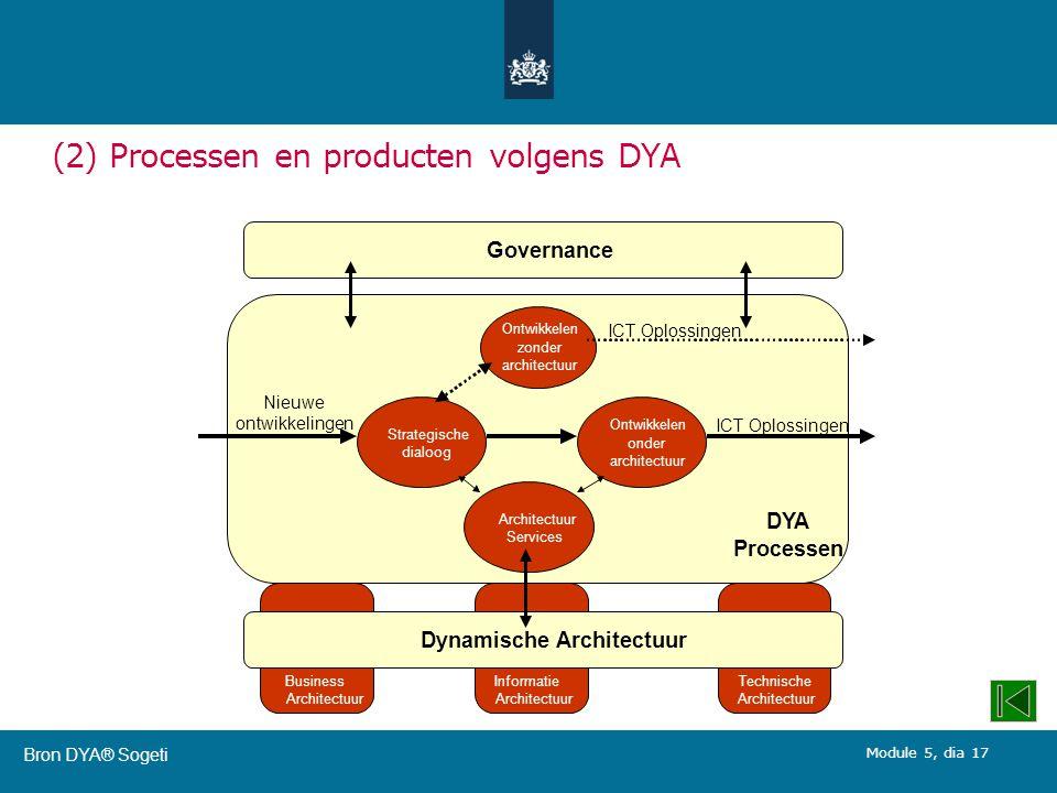 (2) Processen en producten volgens DYA