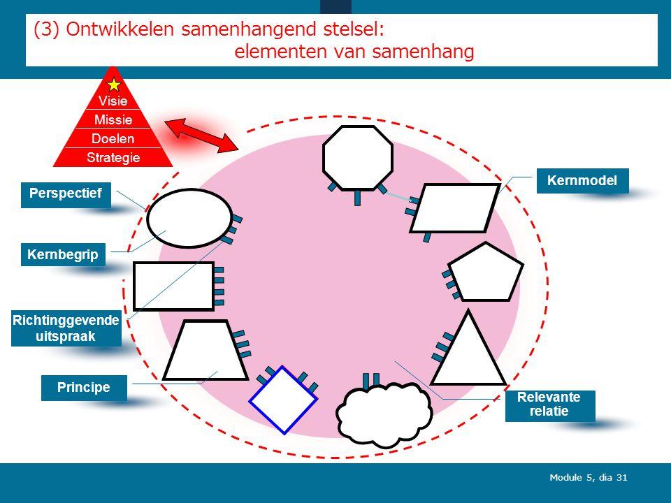 (3) Ontwikkelen samenhangend stelsel: elementen van samenhang