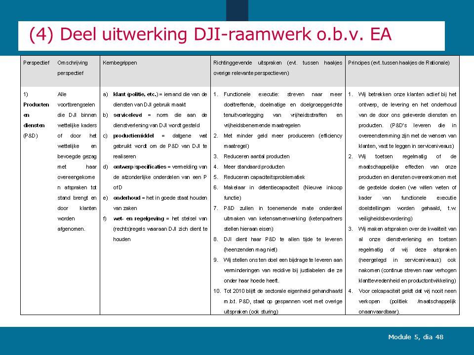(4) Deel uitwerking DJI-raamwerk o.b.v. EA