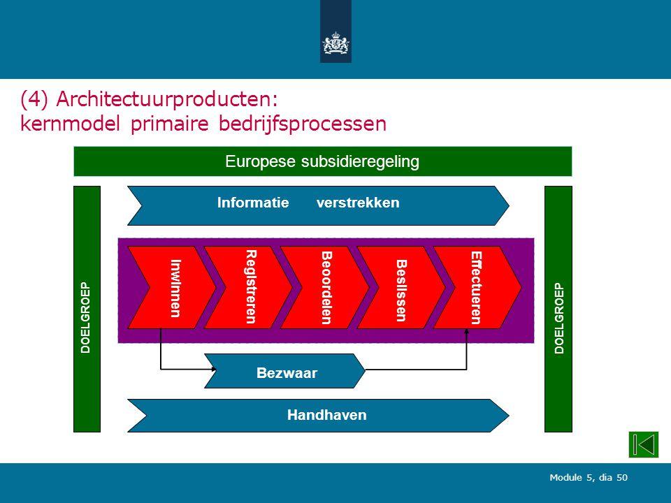 (4) Architectuurproducten: kernmodel primaire bedrijfsprocessen