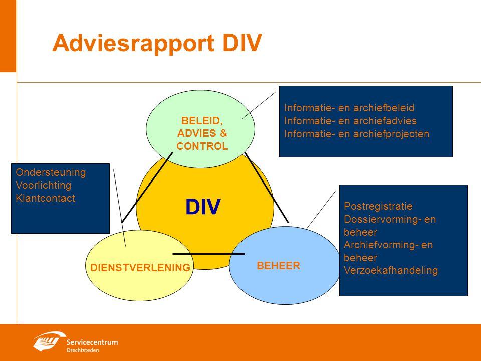 Adviesrapport DIV DIV Informatie- en archiefbeleid