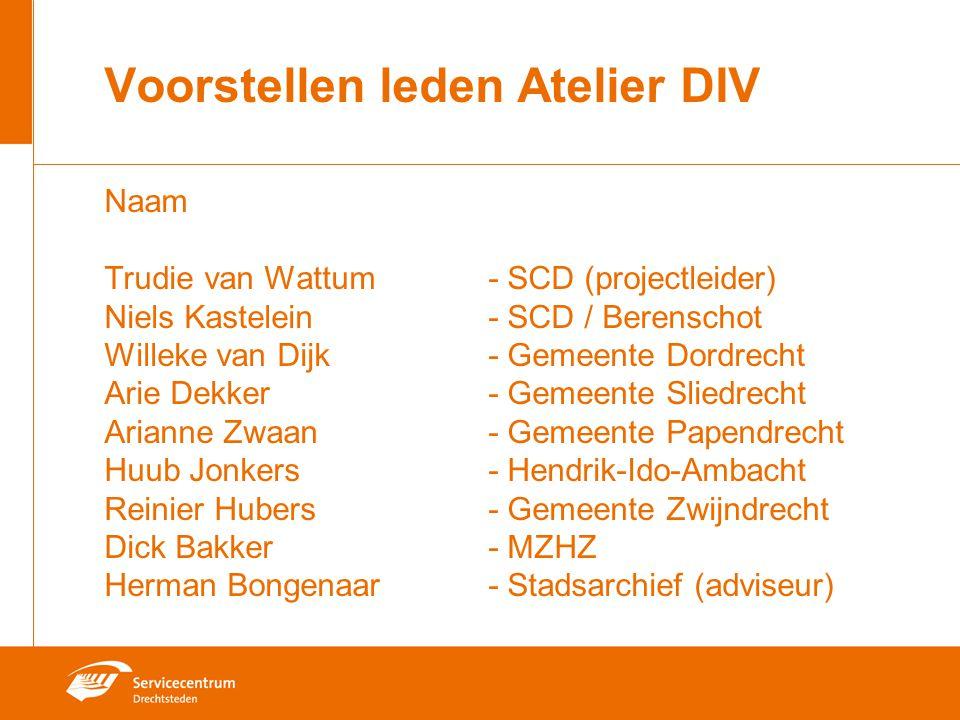 Voorstellen leden Atelier DIV