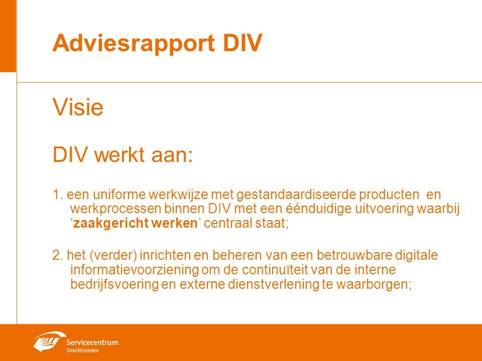 Adviesrapport DIV Visie DIV werkt aan: