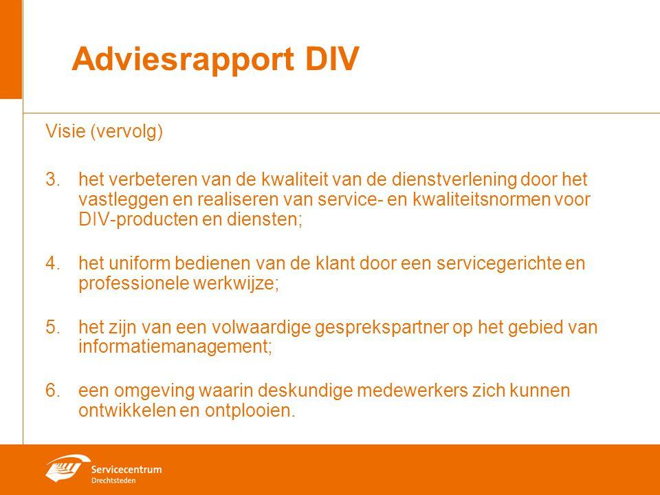 Adviesrapport DIV Visie (vervolg)