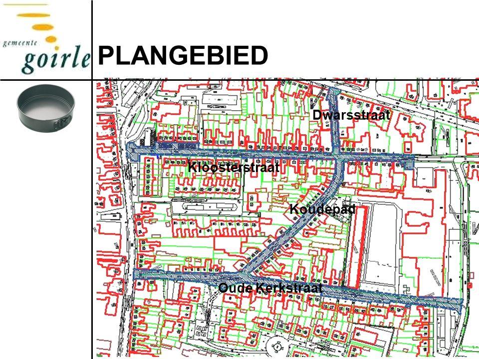PLANGEBIED Dwarsstraat Kloosterstraat Koudepad Oude Kerkstraat