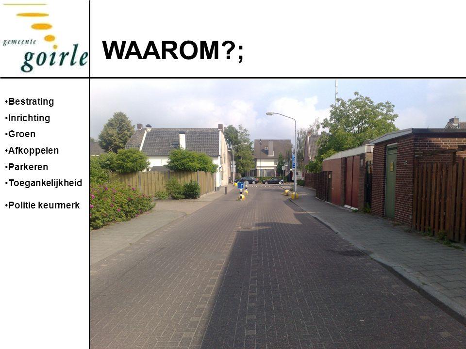 WAAROM ; Foto's Bestrating Inrichting Groen Afkoppelen Parkeren