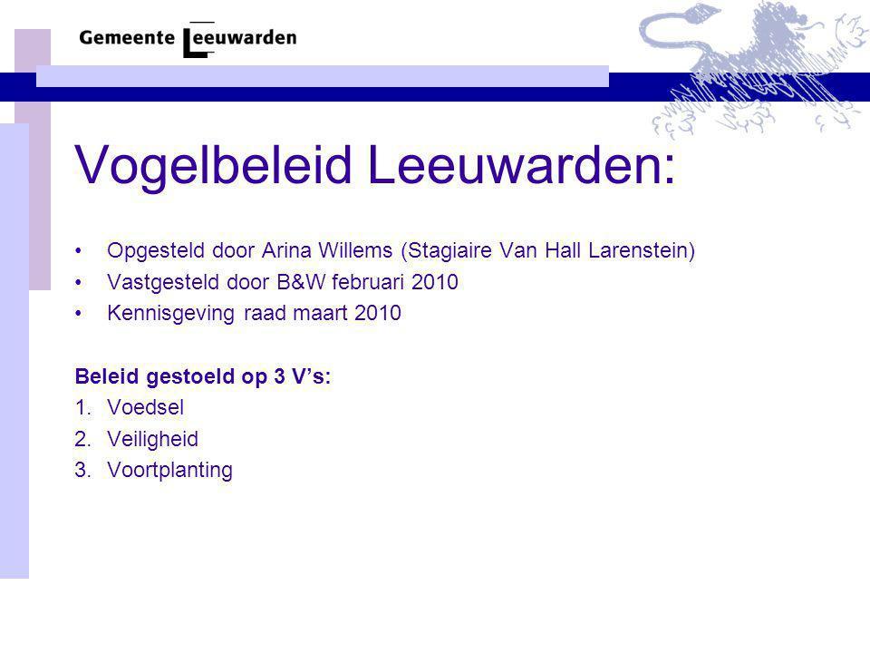Vogelbeleid Leeuwarden: