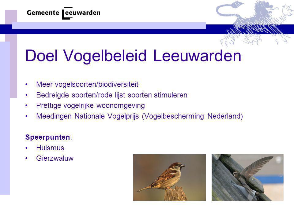 Doel Vogelbeleid Leeuwarden