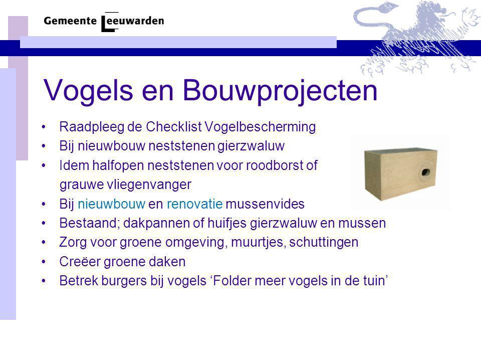 Vogels en Bouwprojecten