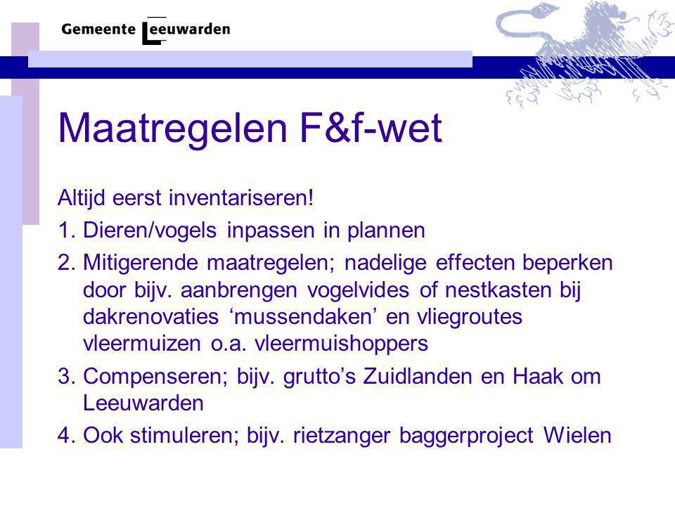 Maatregelen F&f-wet Altijd eerst inventariseren!