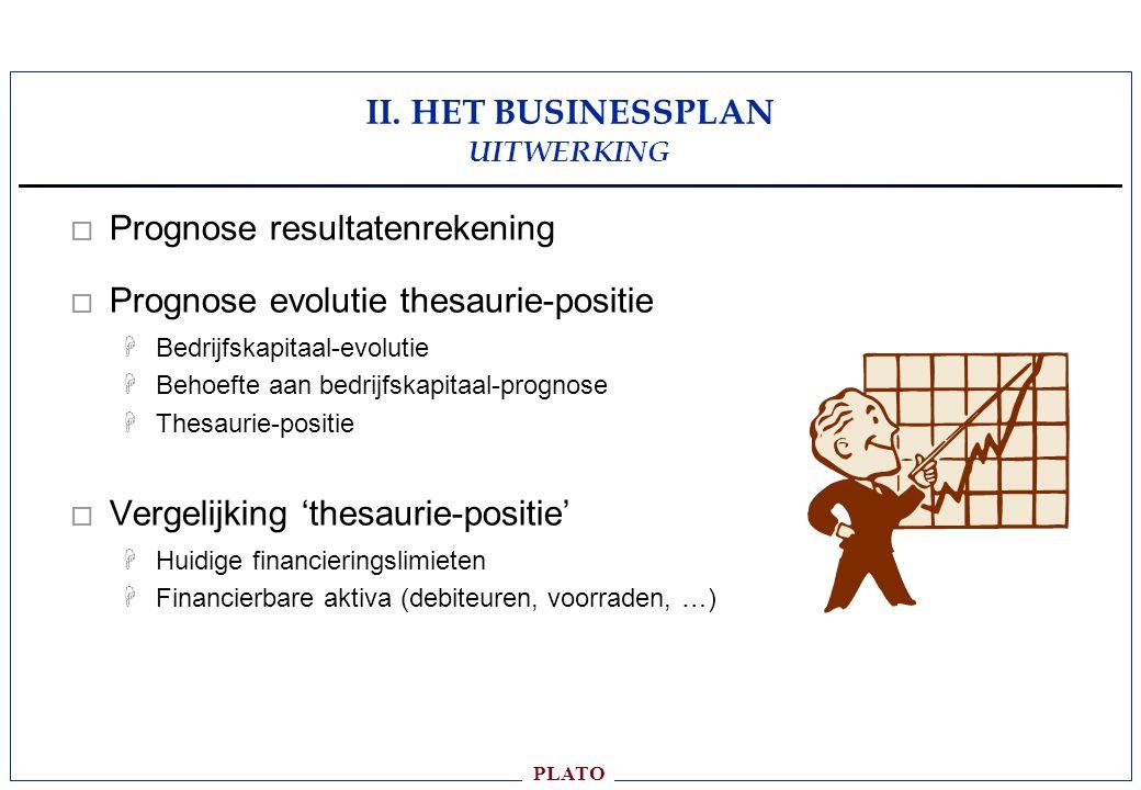 II. HET BUSINESSPLAN UITWERKING