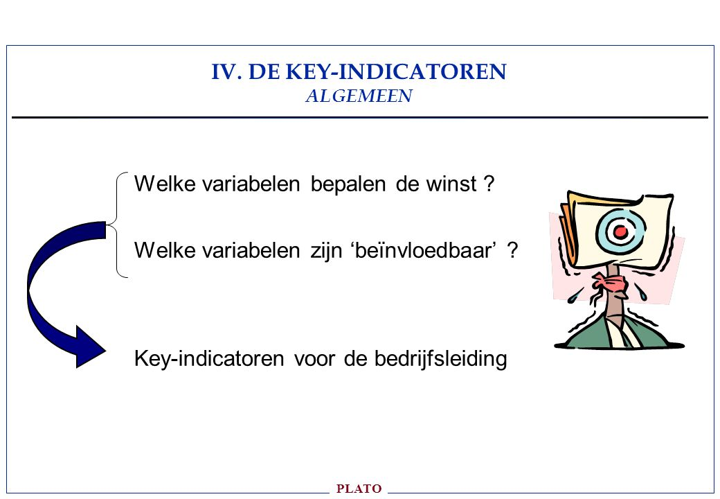 IV. DE KEY-INDICATOREN ALGEMEEN