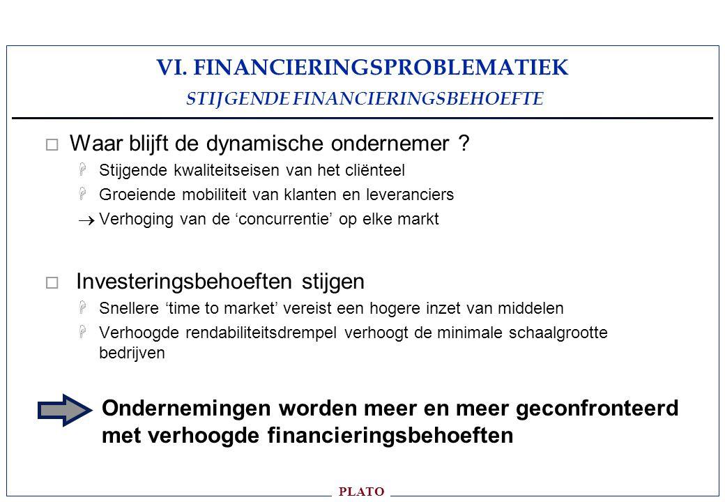 VI. FINANCIERINGSPROBLEMATIEK STIJGENDE FINANCIERINGSBEHOEFTE